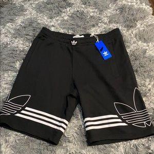Adidas black Shorts with leaf logo NWT Size Large